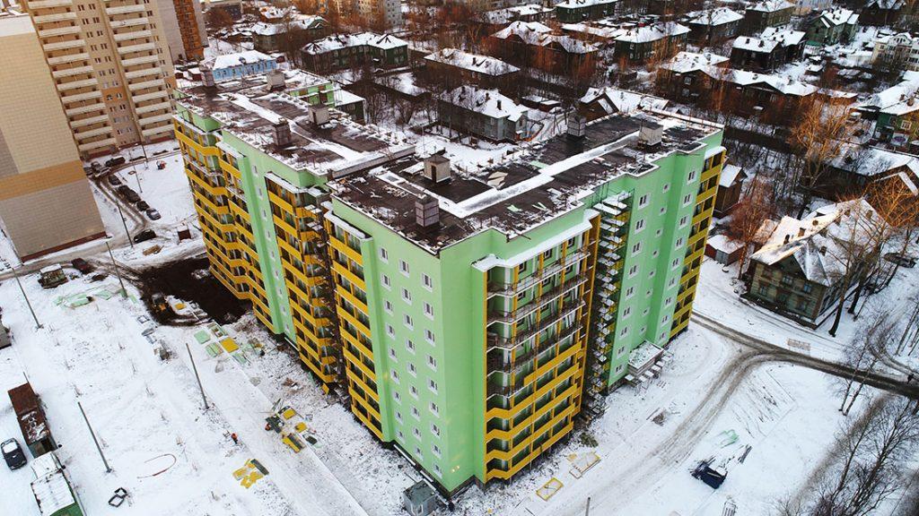 Многоэтажный дом, пр-т. Обводный канал, Архангельск